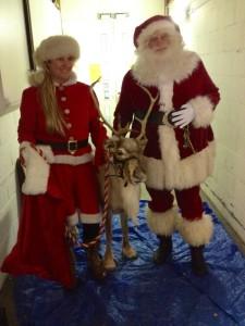 Jackie with Santa.
